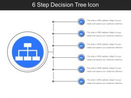 6 Step Decision Tree Icon Sample PPT Files