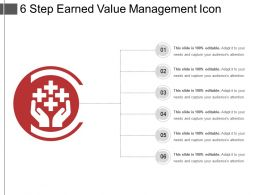 6 Step Earned Value Management Icon