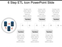 6 Step Etl Icon Powerpoint Slide