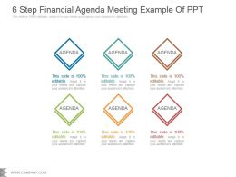 6 Step Financial Agenda Meeting Example Of Ppt