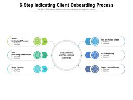 6 Step Indicating Client Onboarding Process