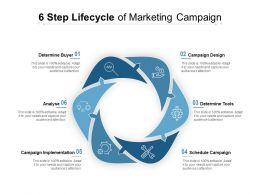6 Step Lifecycle Of Marketing Campaign