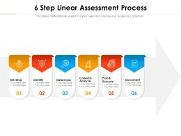 6 Step Linear Assessment Process