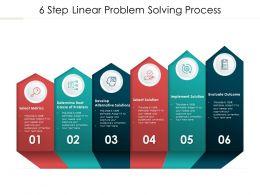 6 Step Linear Problem Solving Process