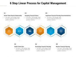 6 Step Linear Process For Capital Management