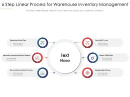 6 Step Linear Process For Warehouse Inventory Management