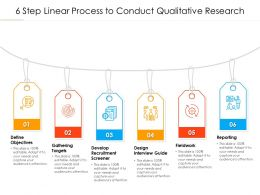 6 Step Linear Process To Conduct Qualitative Research