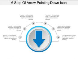 6 Step Of Arrow Pointing Down Icon