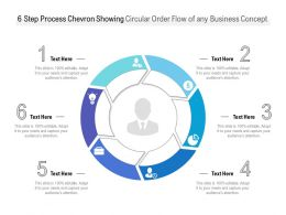 6 Step Process Chevron Showing Circular Order Flow Of Any Business Concept