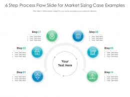 6 Step Process Flow Slide For Market Sizing Case Examples Infographic Template