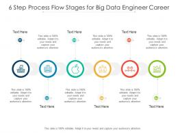 6 Step Process Flow Stages For Big Data Engineer Career Infographic Template