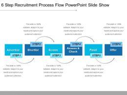 6_step_recruitment_process_flow_powerpoint_slide_show_Slide01