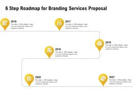 6 Step Roadmap For Branding Services Proposal Ppt Powerpoint Template