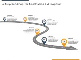 6 Step Roadmap For Construction Bid Proposal Ppt Powerpoint Presentation Outline Skills