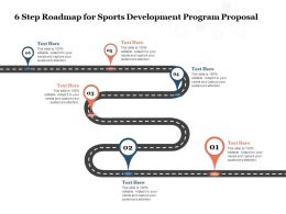 6 Step Roadmap For Sports Development Program Proposal Ppt Powerpoint Presentation Graphics