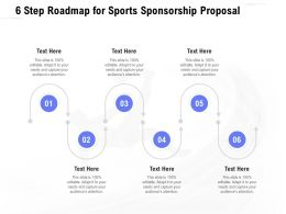6 Step Roadmap For Sports Sponsorship Proposal Ppt Powerpoint Presentation File