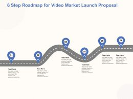 6 Step Roadmap For Video Market Launch Proposal Ppt Powerpoint Microsoft