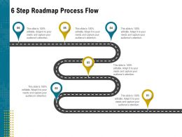 6 Step Roadmap Process Flow L1951 Ppt Powerpoint Presentation File Graphics Example