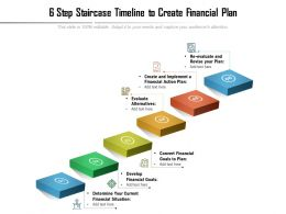6 Step Staircase Timeline To Create Financial Plan