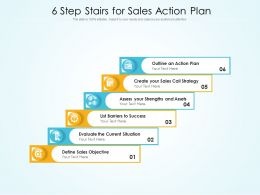 6 Step Stairs For Sales Action Plan