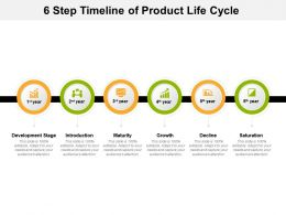 6 Step Timeline Of Product Life Cycle