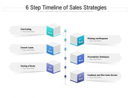 6 Step Timeline Of Sales Strategies