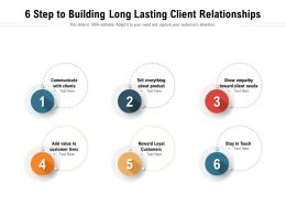 6 Step To Building Long Lasting Client Relationships