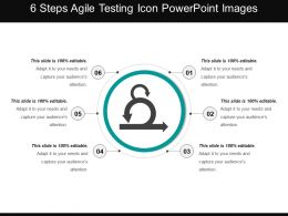 6 Steps Agile Testing Icon Powerpoint Images
