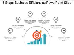 6 Steps Business Efficiencies Powerpoint Slide