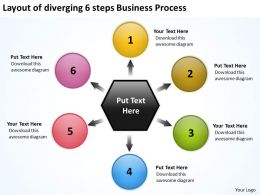 6_steps_business_powerpoint_theme_process_relative_circular_flow_arrow_diagram_slides_Slide01