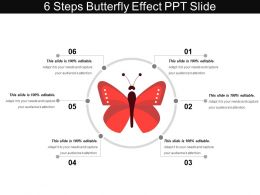 6 Steps Butterfly Effect Ppt Slide