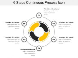 6 Steps Continuous Process Icon