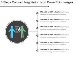6 Steps Contract Negotiation Icon Powerpoint Images