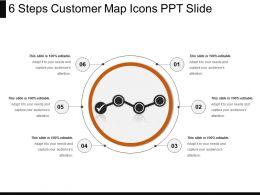 6_steps_customer_map_icons_ppt_slide_Slide01