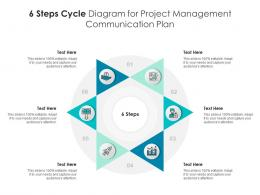 6 Steps Cycle Diagram For Project Management Communication Plan Infographic Template