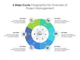 6 Steps Cycle For Overview Of Project Management Infographic Template