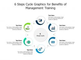 6 Steps Cycle Graphics For Benefits Of Management Training Infographic Template