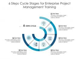 6 Steps Cycle Stages For Enterprise Project Management Training Infographic Template