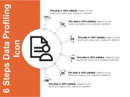 6 Steps Data Profiling Icon