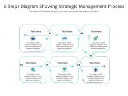 6 Steps Diagram Showing Strategic Management Process Infographic Template