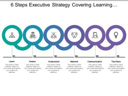 6 Steps Executive Strategy Covering Learning Assess Understand Network And Communication