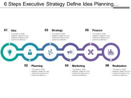 6 Steps Executive Strategy Define Idea Planning Strategy Marketing Finance And Success
