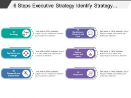 6 Steps Executive Strategy Identify Strategy Design Research Review And Negotiation