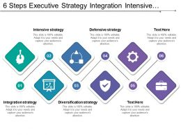 6 Steps Executive Strategy Integration Intensive Diversification And Defensive Strategy