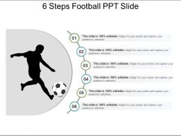 6 Steps Football Ppt Slide