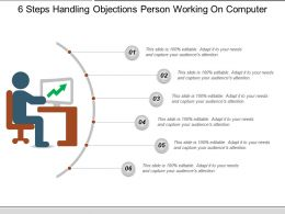 6 Steps Handling Objections Person Working On Computer