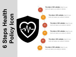 6 Steps Health Policy Icon