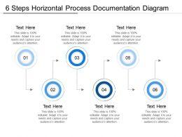 6 Steps Horizontal Process Documentation Diagram