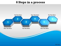 6 steps in a process hexagonal combs connected slides diagrams templates powerpoint info graphics