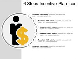 6 Steps Incentive Plan Icon